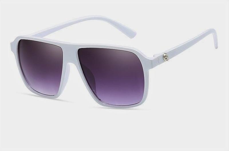 Солнцезащитные очки в белой оправе линзы градиент e0dc6876d4dde