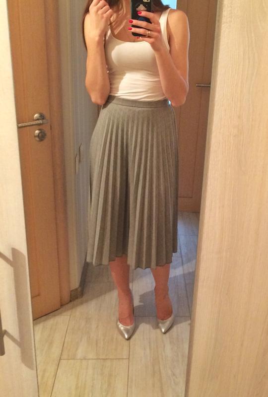 Теплая юбка плиссе