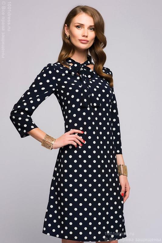 c7688157f55 Итальянское стильное платье в горошек! размер м л1 фото ...