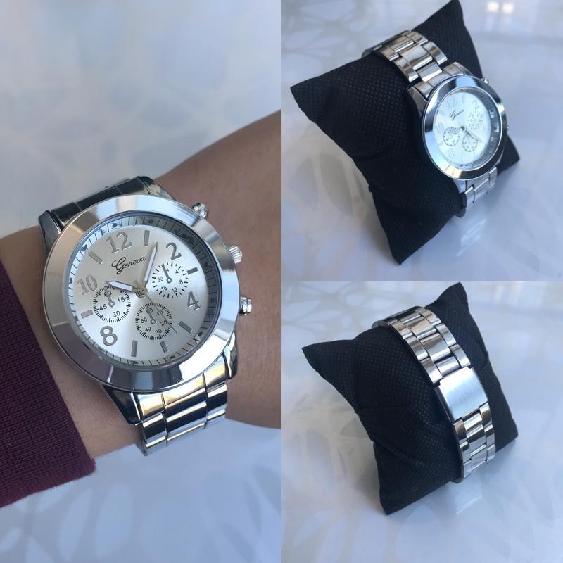 44d75d95e37f Женские красивые наручные часы женева geneva металлические серебристые1 ...