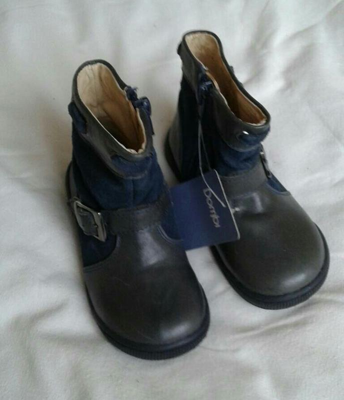 Шкіряні (ззовні+середина) демі чобітки на дівчинку розмір 23 4475dc904de63