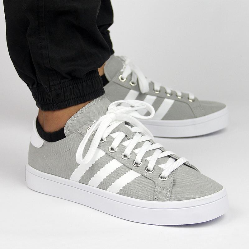 Adidas s78763 Originals Mens Courtvantage Grey White And