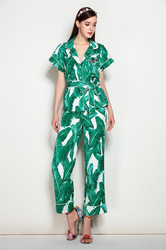 5c63387f2222 Костюм пижамный в тропический принт в стиле dolce gabbana1 фото ...