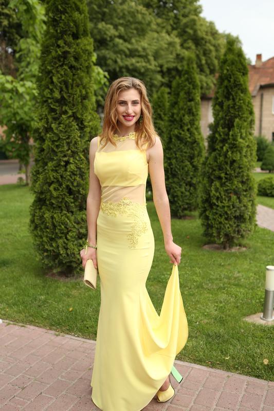 5b6d8acd836 Вечернее платье кеїкеї желтое
