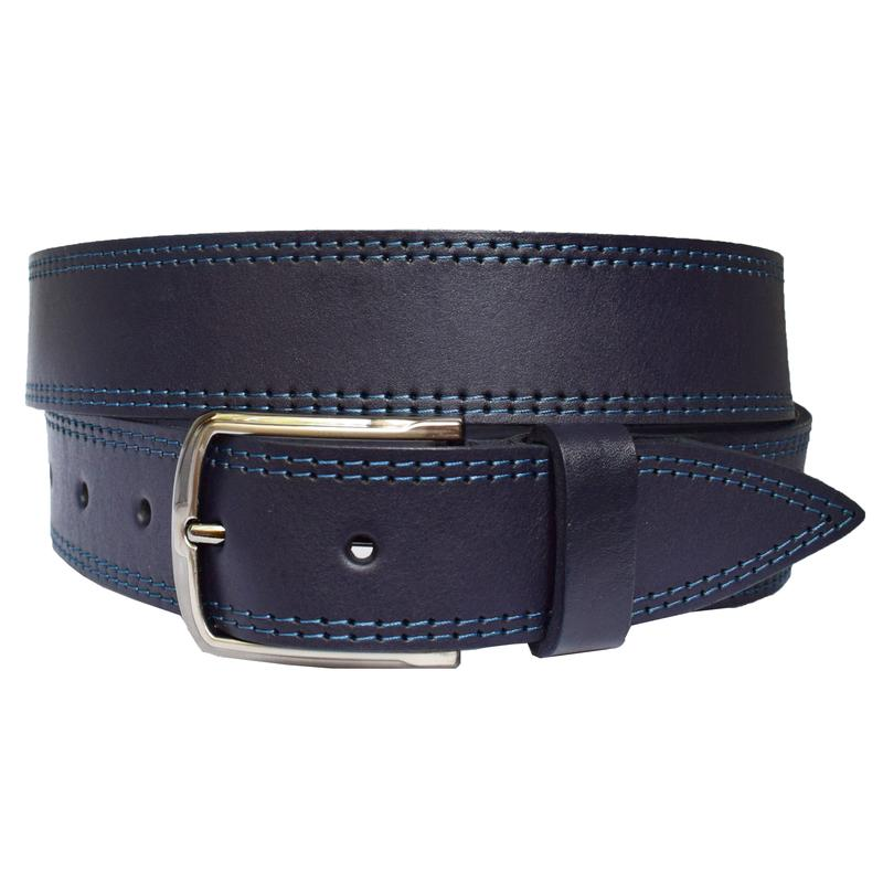 96f654e23fa5 Orlando ремень синий кожаный под джинсы со строчкой кожа пояс кожанный  ремінь ...