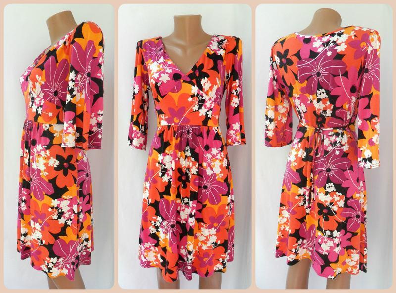 Стильное яркое платье с цветочным принтом new look. размер uk14(l ... f0c765039d7ca
