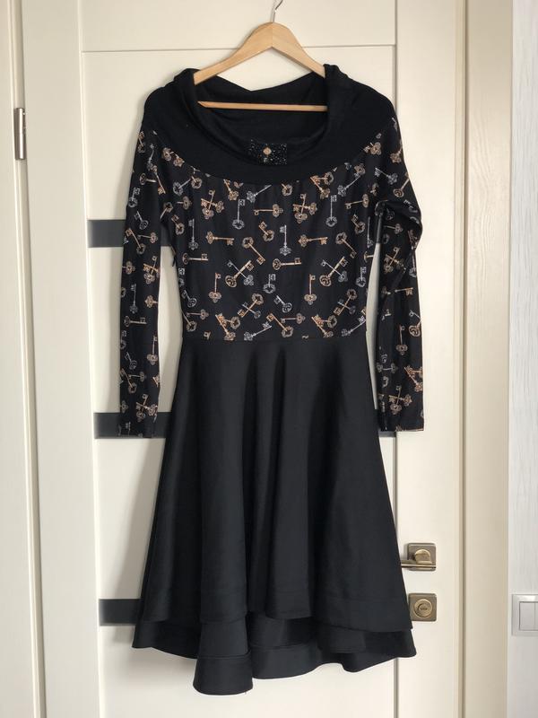 869cd49cd421ce0 Распродажа до 01.05.2019 фирменное шикарное платье с принтом ключи ключики1  фото ...