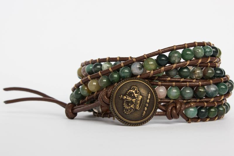 Индийские браслеты из натуральных камней