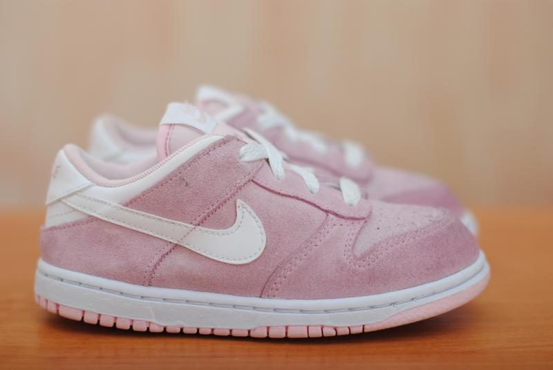 9a0b8779 Розовые замшевые детские кроссовки nike, найк. 27 размер. оригинал1 ...