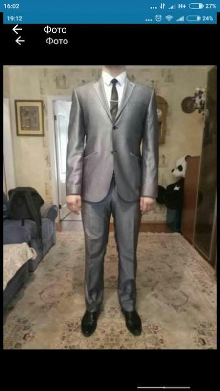 3f564ce0a20c Костюм мужской, серый, рубашка, брюки, пиджак, классика, на выпускной1 ...