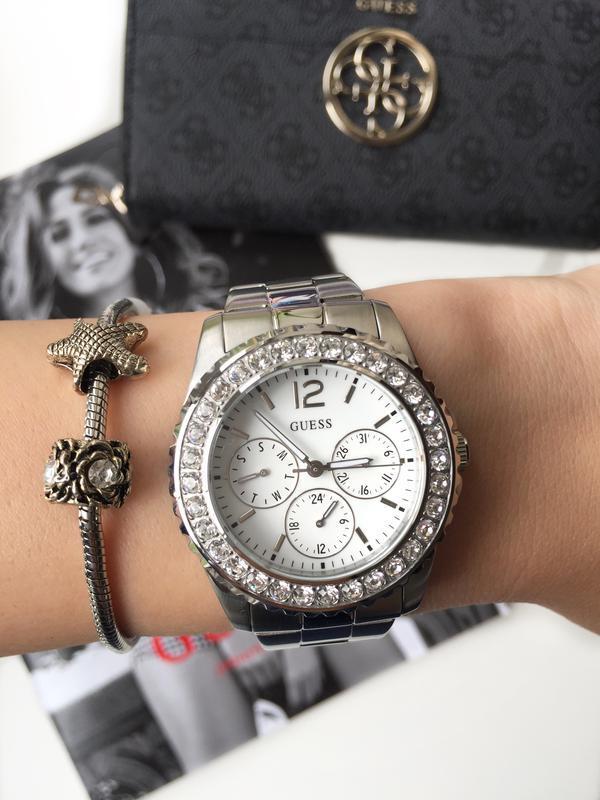 3961f10a ... Очень красивые женские часы guess со стразами! оригинал из сша!3 фото  ...
