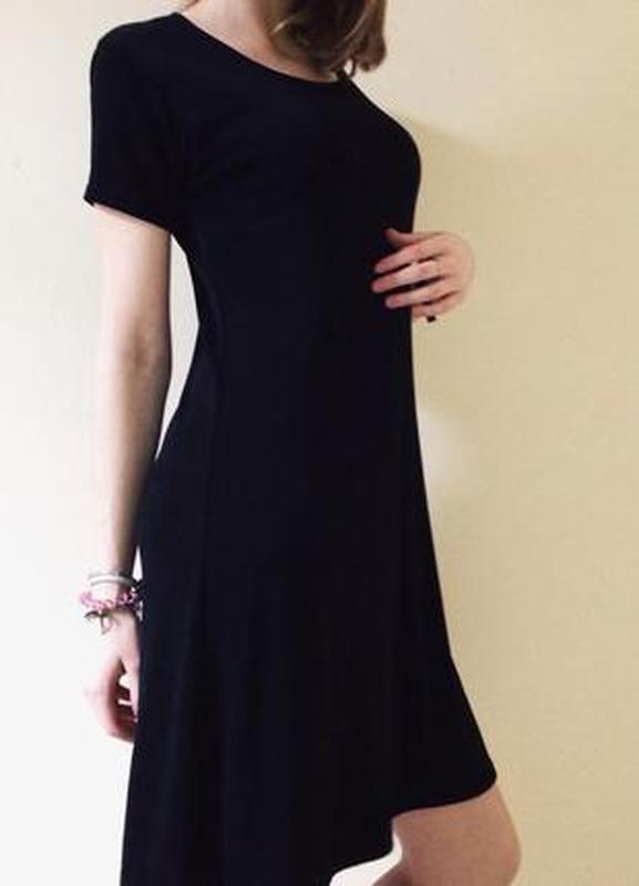 79731237d25 Базовое повседневное черное платье1 фото ...