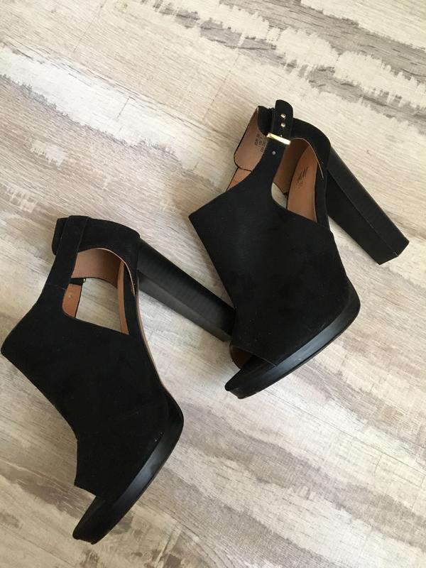 Красивый босоножки замшевые , туфли с открытым носком, на каблуке h m1 ... 9b1b484c733
