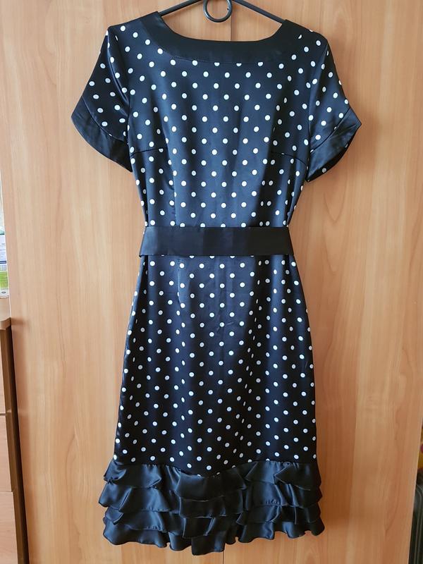 97563dd03da Изящное атласное платье в горошек1 ...