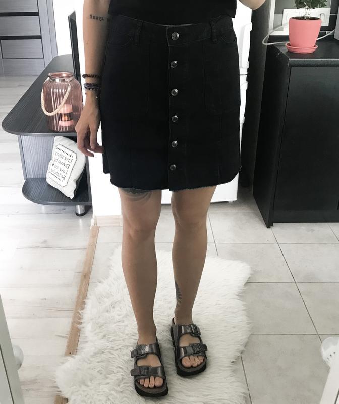 d96c43a3193 Черная джинсовая юбка на пуговицах george1 фото ...