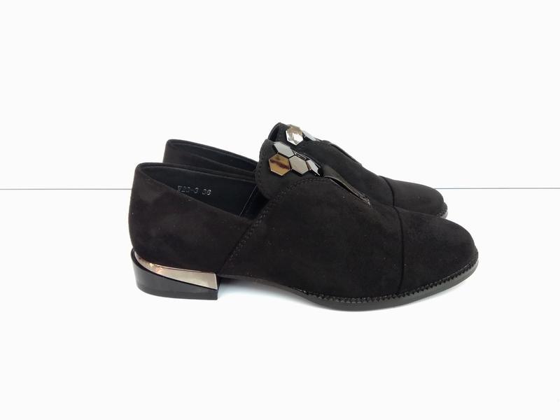 Черные женские туфли лоферы эко замша 37 fcab6a50e470d