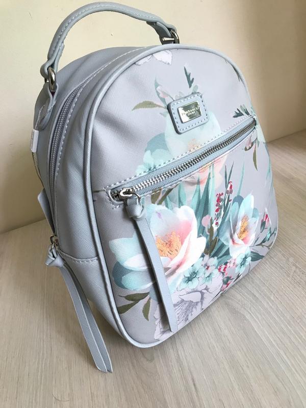ff56433968a4f Женский рюкзак david jones с нежным цветочным принтом. голубой, бежевый,  черный1 фото ...