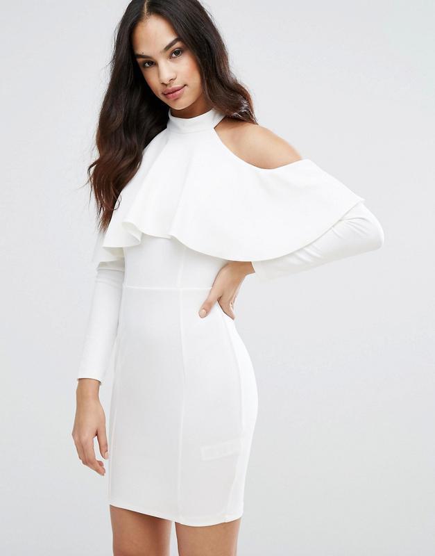 2c4e9d25616 Белое платье с открытыми плечами asos1 фото ...