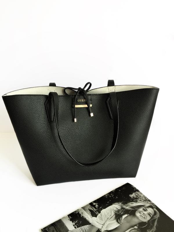cc218fee Черная сумка шоппер bobbie от guess! оригинал! Guess, цена - 1900 ...