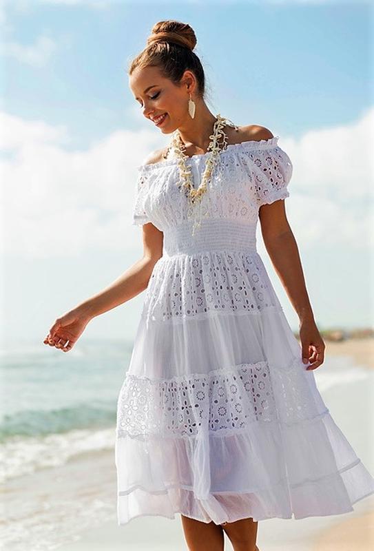 bca1934c7e0 Кружевное расклешенное платье миди с пышной юбкой коротким рукавом  коктейльное m l xl1 фото ...