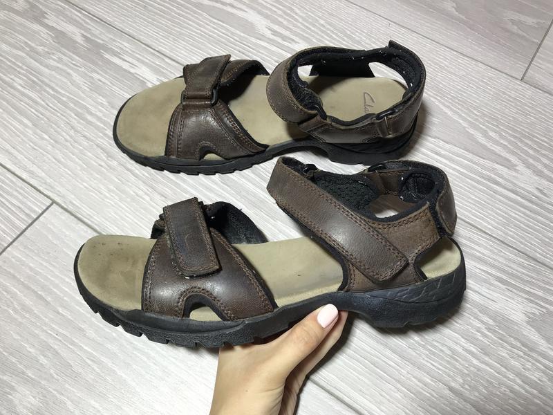 Кожаные босоножки clarks кожа коричневые размер 42 сандали на липучке1 ... 3f243eb8a4acf