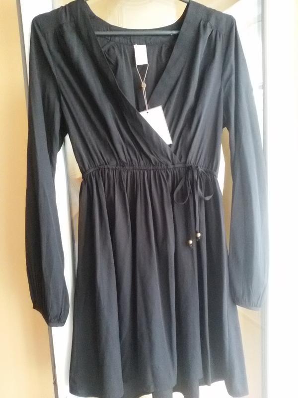 d4a708f075e Плаття на запах платье на запах vila clothes базовое черное платье1 ...