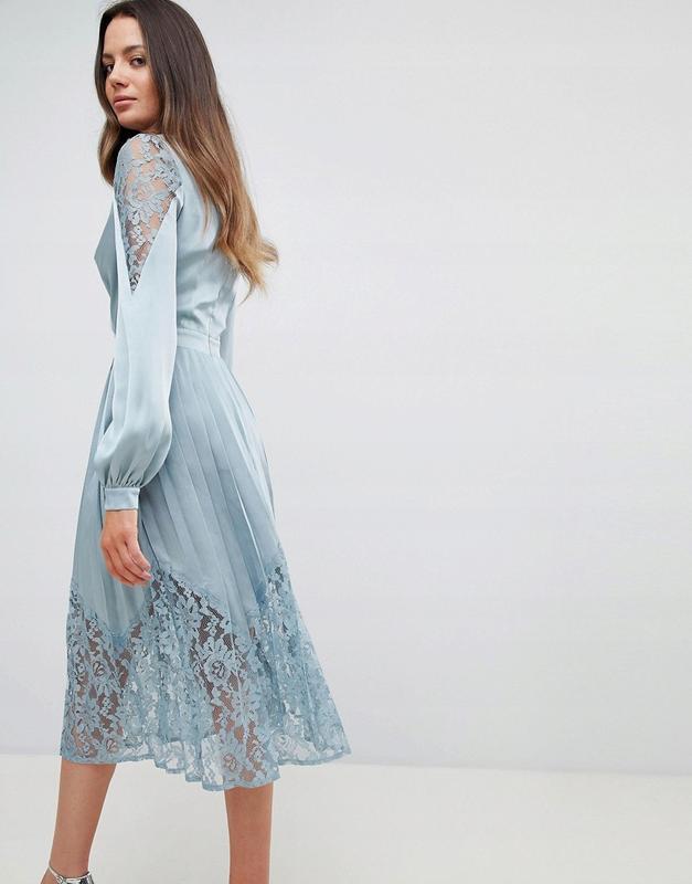 Little mistress tall неймовірна розкішна атласна сукня-плісе ажурні  вставки1 ... 1e220d08765cc