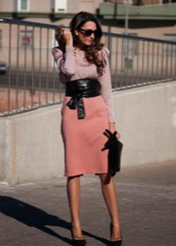 3ba7237fb54 Классическая юбка карандаш персикового цвета alvane1 фото ...