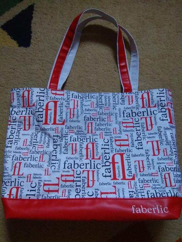 Яркая летняя пляжная вместительная сумка для покупок Faberlic, цена ... 92d0b653890