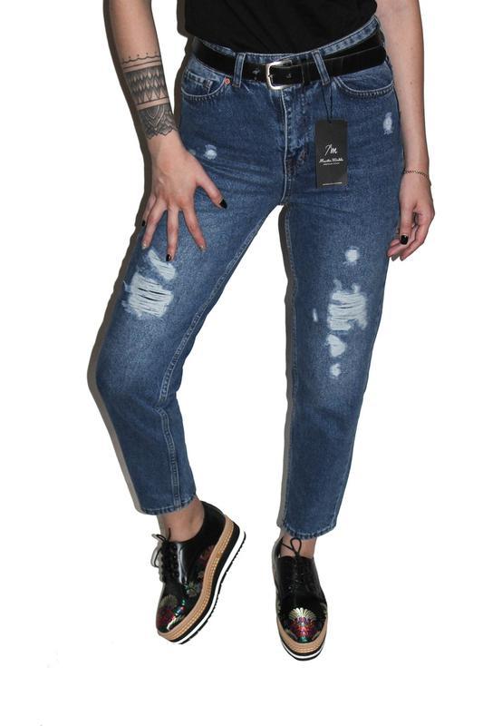 66cc30b4b1c Джинсы бойфренды   boyfriend mom jeans с высокой талией мам бананы1 ...
