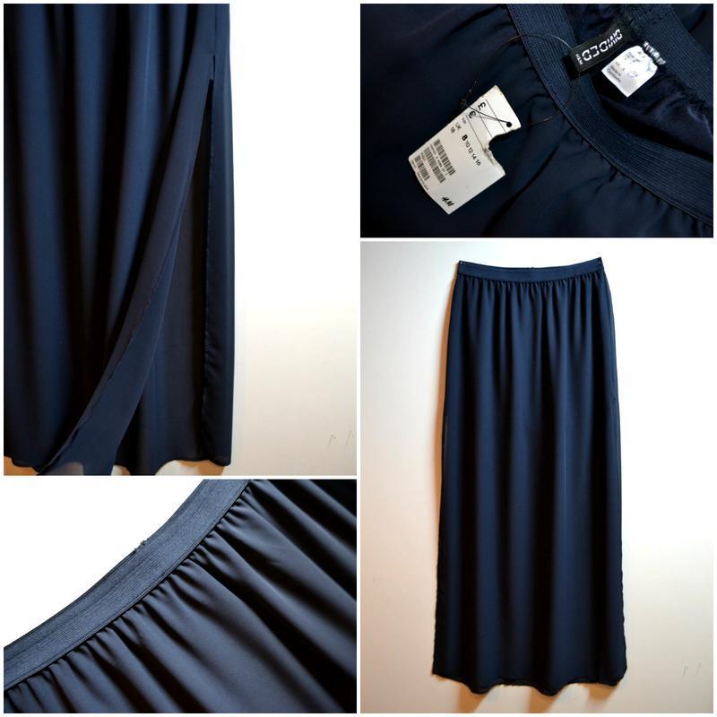 0f041873129 Синяя длинная юбка в пол1 ...