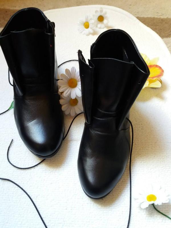 523ee324ac0e Ботинки женские кожаные. акция на последние размеры черные и серые 38 и  визон 37 за ...