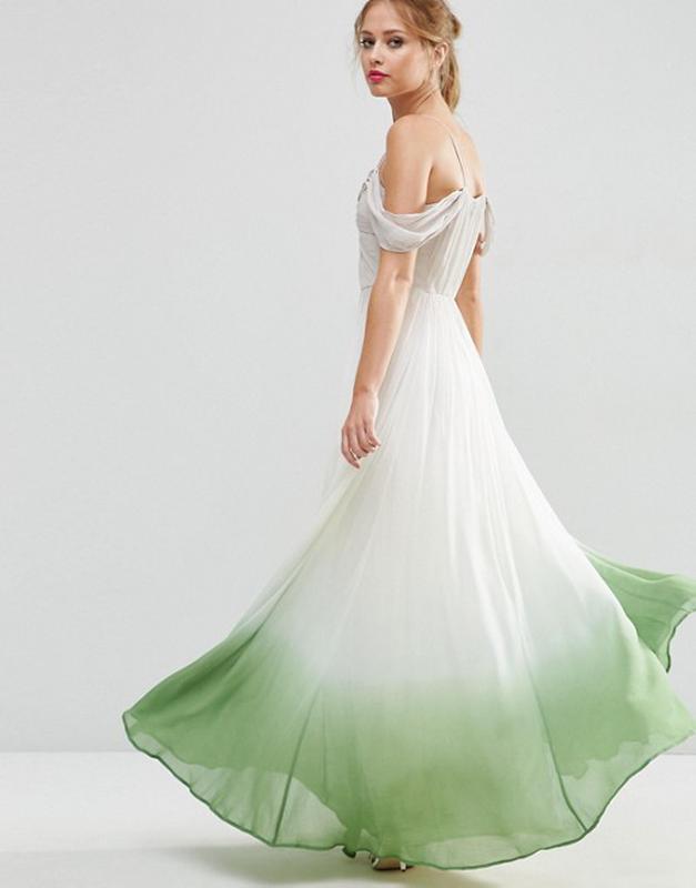 8851e544a95 Роскошное платье макси с драпировками и эффектом деграде asos salon1 фото  ...