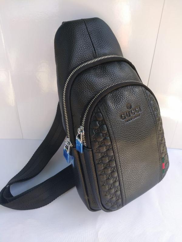 bebc4005c980 Сумка - слинг мужская кожаная черная барсетка, цена - 1850 грн ...