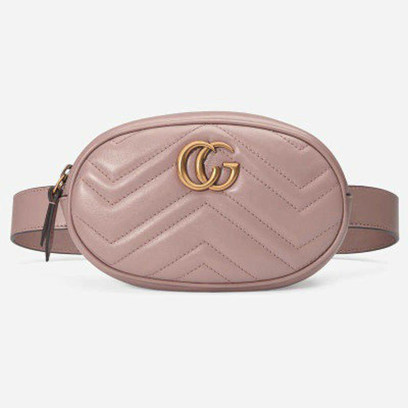 ce57cd97a641 Женская поясная сумка на пояс в стиле gucci (гуччи) розовая1 фото ...
