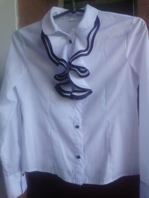 237904e6312 На 1 сентября блуза белая с жабо на девочку подростка1 фото ...