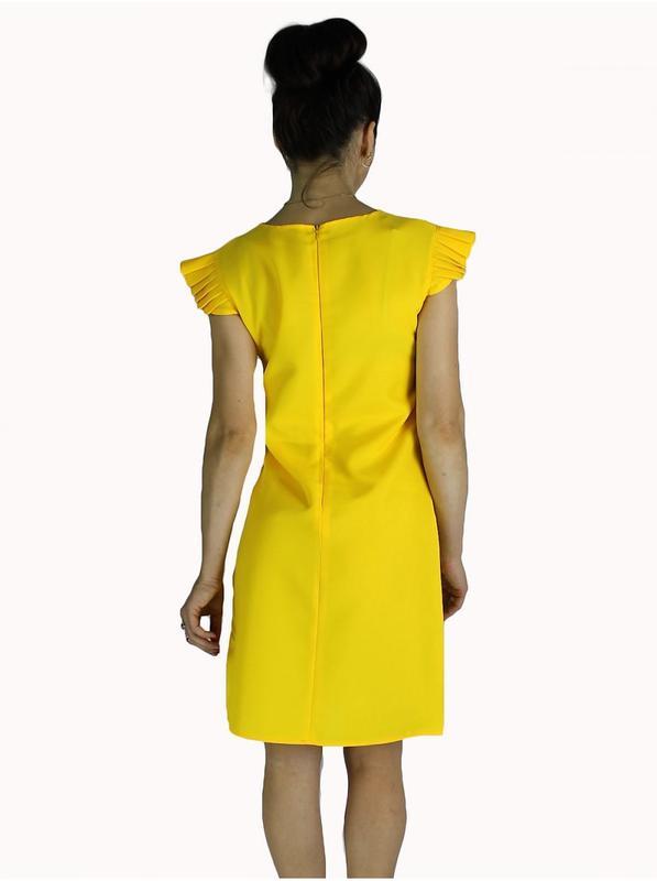 ec19dfca8e7 Яркое желтое праздничное платье футляр с рюшами р xs s m l xl много цветов1  фото ...