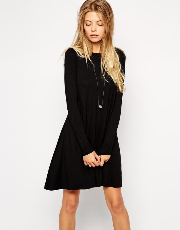 95e00600cb2b Черное платье летучая мышь с длинным рукавом george (George) за 100 грн. |  Шафа