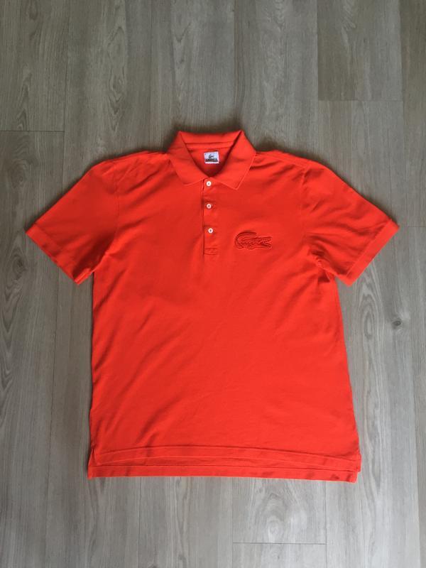 Оранжевая футболка поло lacoste   размер xl (6) Lacoste, цена - 450 ... d905877f07f