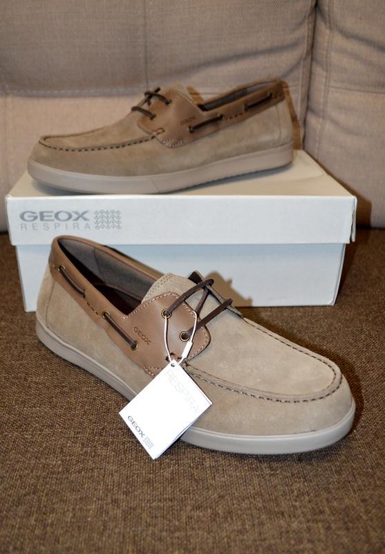 b2b8817ad Кожаные туфли мокасины топсайдеры geox respira 12us 46 р 30-30.5 см1 ...