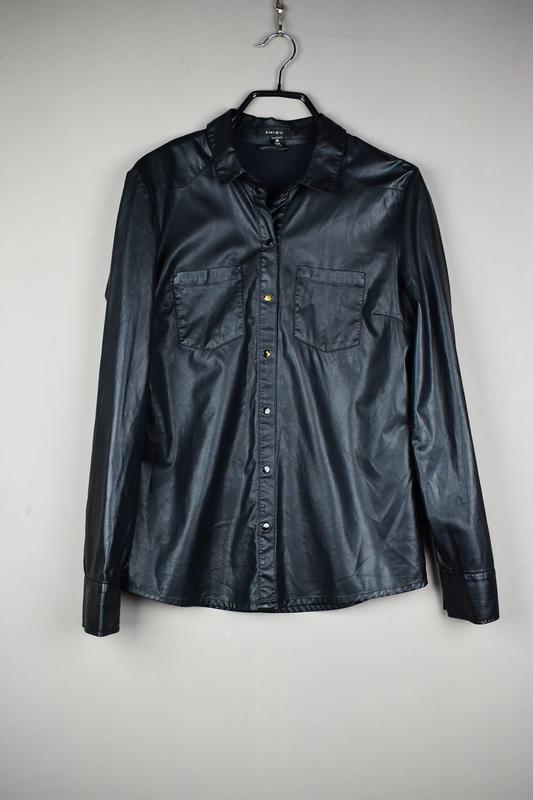 8caea649850aec8 Очень красивая кожаная рубашка экокожа от amisu AMISU, цена - 275 ...
