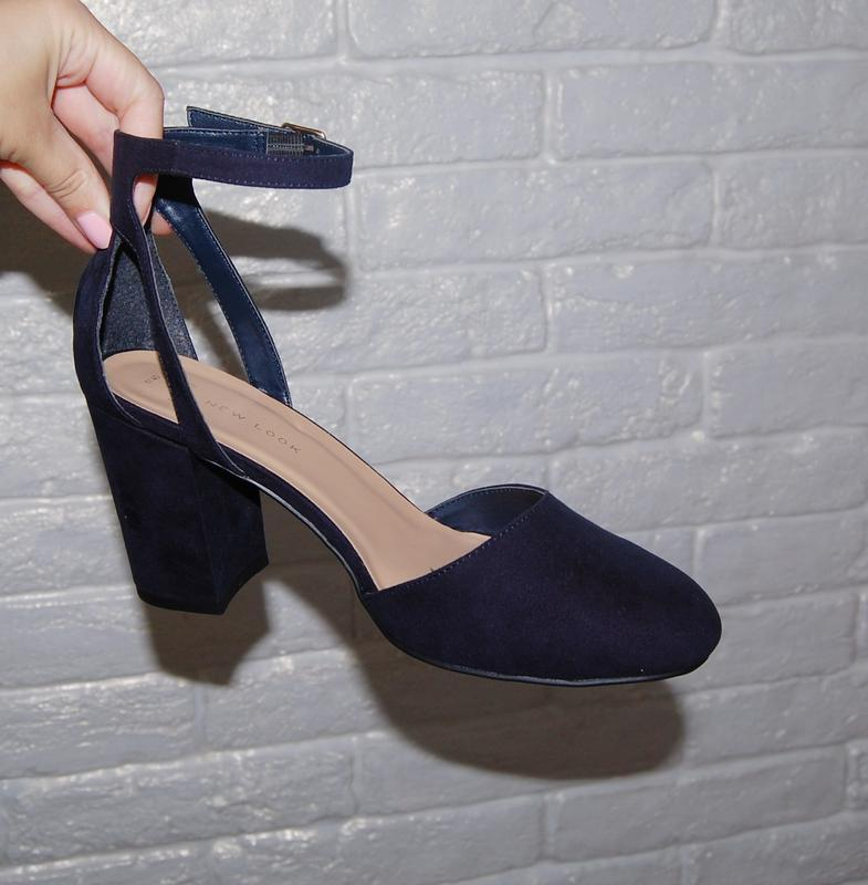 afb6afca5357 Туфли синие толстый каблук new look 40 р-р New Look, цена - 600 грн ...