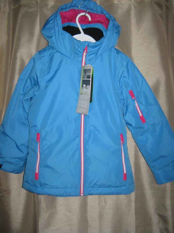 Зимняя (лыжная) куртка на девочку р.116 см,