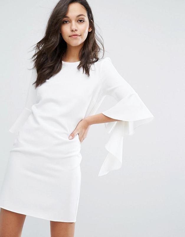 47d038c3b85 Роскошное белое платье прямого кроя с рукавами воланами miss selfridge1  фото ...