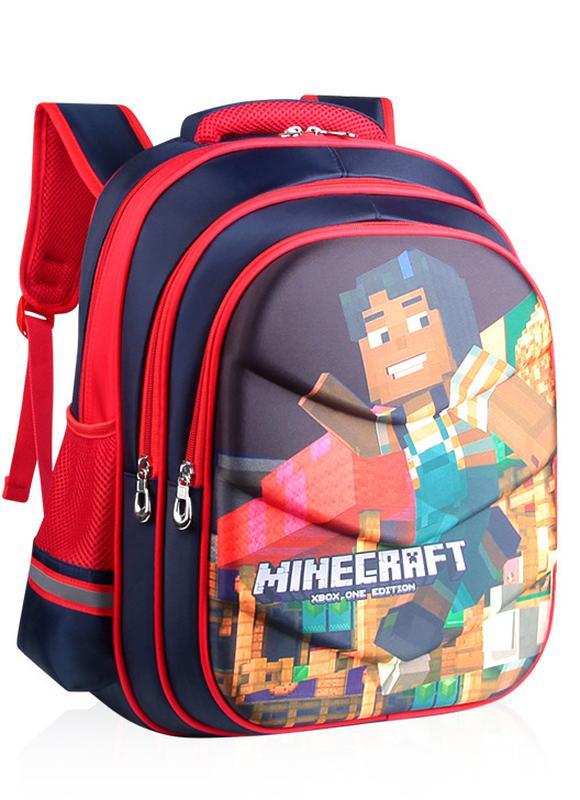 533bae996f03 Рюкзак школьный minecraft ортопедическая спинка красный 42 см1 фото ...