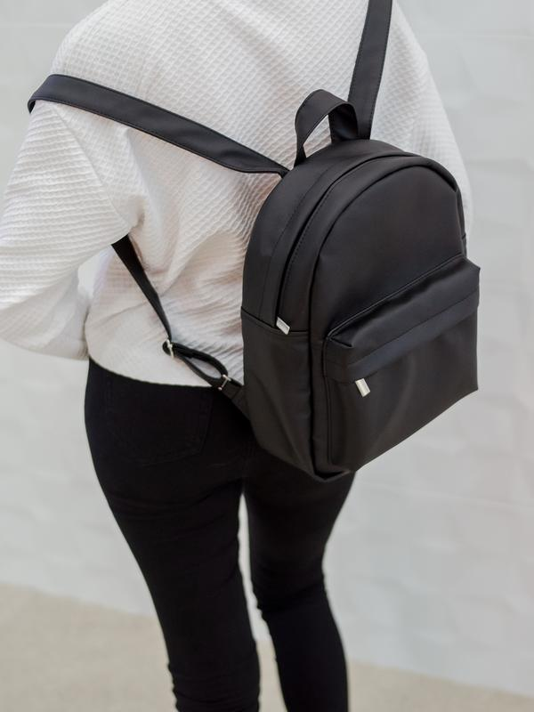 f0729aed7ddc Новый городской женский рюкзак кожа чёрный Sambag, цена - 450 грн ...