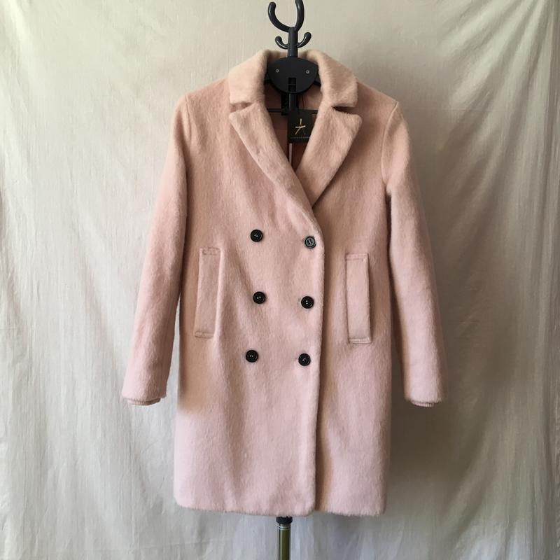 Новое шерстяное пальто бойфренд oversize нежно-розового цвета1 ... f42d1b45aebe6