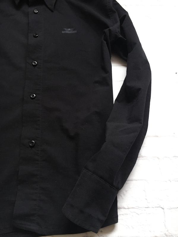 82725ad9945 Черная рубашка giorgio armani Giorgio Armani