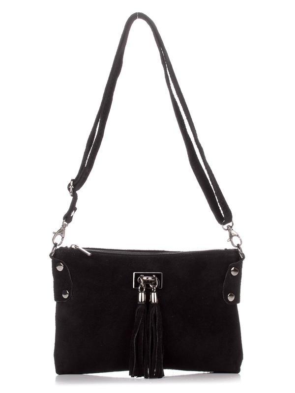 6361baf25e51 Замшевая чёрная сумка-клатч tianna италия, цена - 700 грн, #15088229 ...