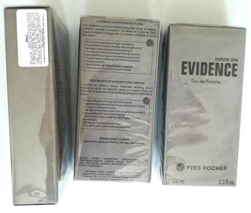 туалетная вода Comme Une Evidence Homme 100 мл ив роше Yves Rocher